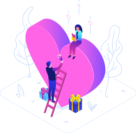 Be My Valentine Illustration