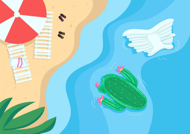 Beach and pool floats Illustration