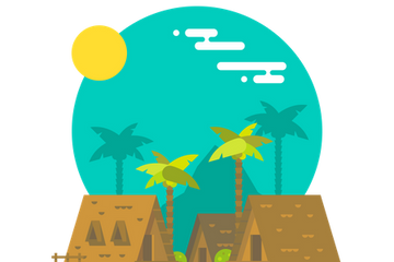 Beach Places Illustration Pack