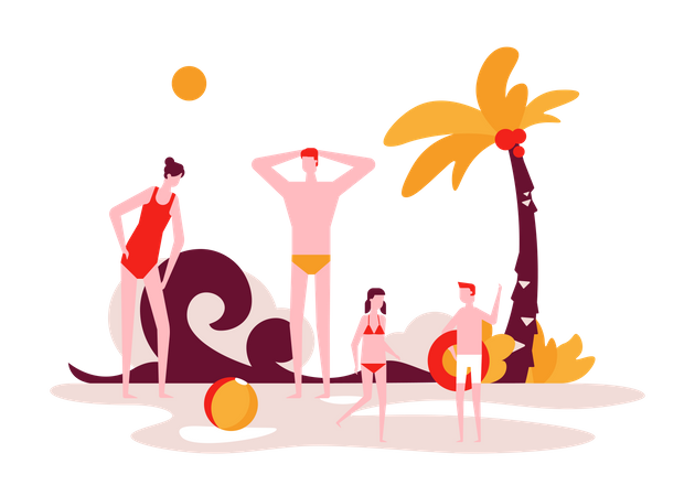 Beach Holiday Illustration