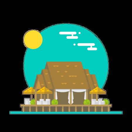 Beach Hotel Illustration