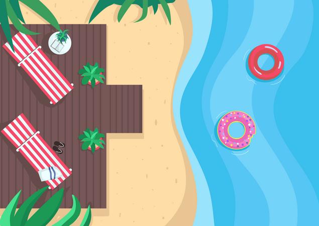 Beach vacation Illustration