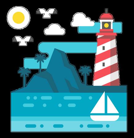 Beachside Illustration