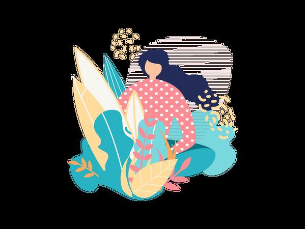 Beautiful girl Illustration