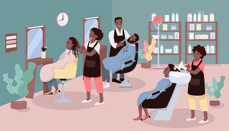 Beauty parlor Illustration