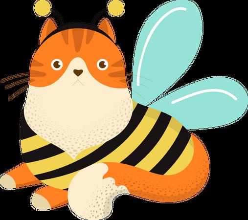 Bee cat Illustration