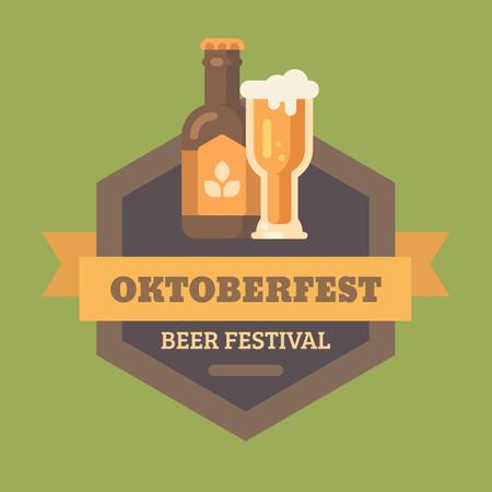 Beer fest banner Illustration