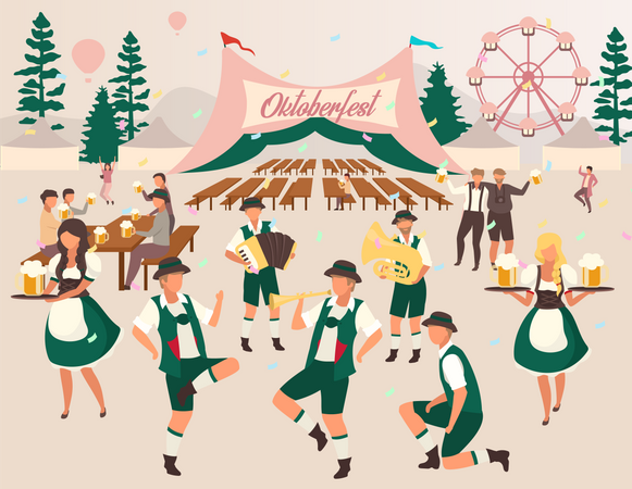 Beer Festival Illustration