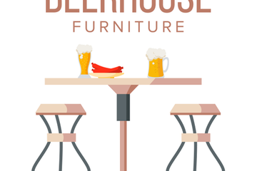 Beer House Furniture Illustrations