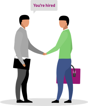 Being hired by company Illustration