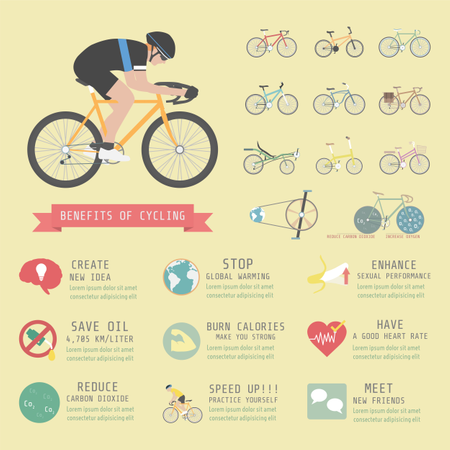 Benefits Of Cycling Bicycle, Infographic