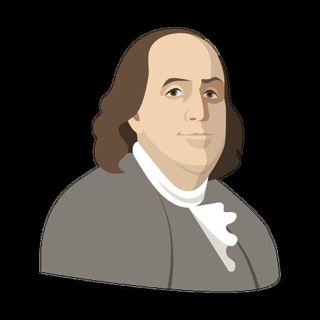 Benjamin Franklin Illustration