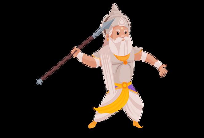 Bhishma Pitamaha throwing jawline Illustration