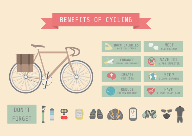 Bicycle Infographics Illustration