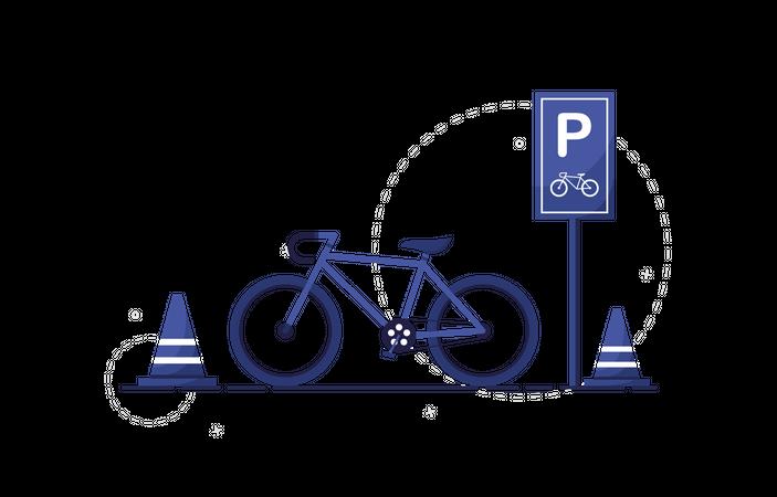 Bicycle parking Illustration