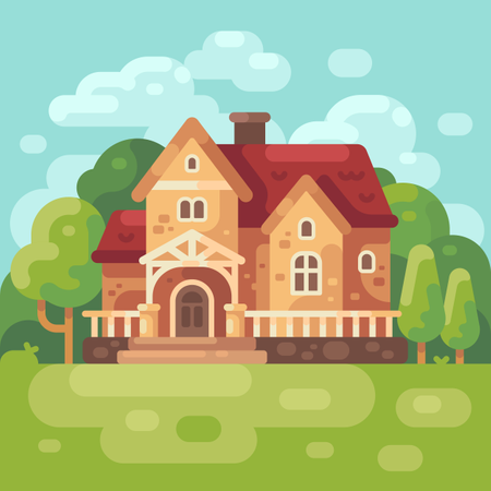 Big country house Illustration