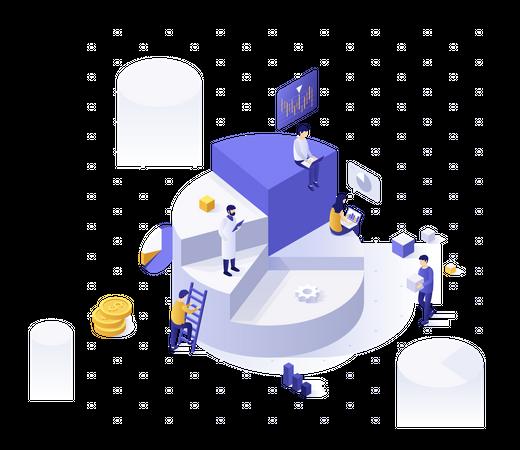Big data analysis and solutions Illustration