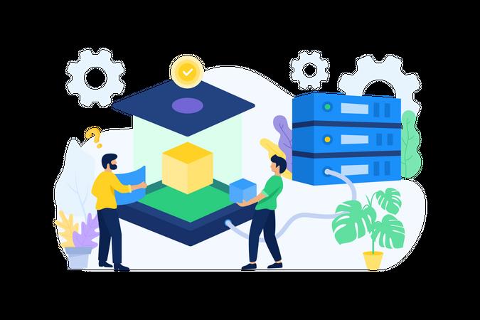 Big Data & Server Testing Illustration