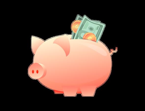 Big piggy bank Illustration
