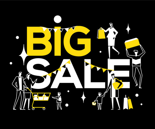 Big Sale Illustration