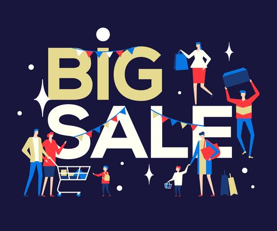Big shopping sale Illustration