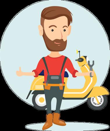 Bike Repair Services Illustration