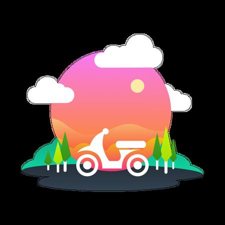 Bike ride Illustration