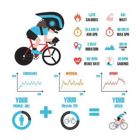 Bike Training Infographic Illustration