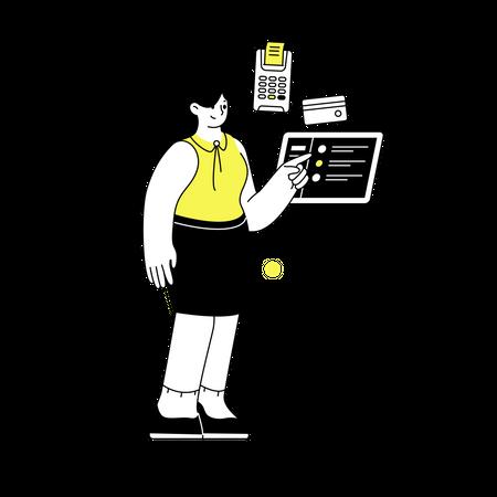 Bill payment station Illustration