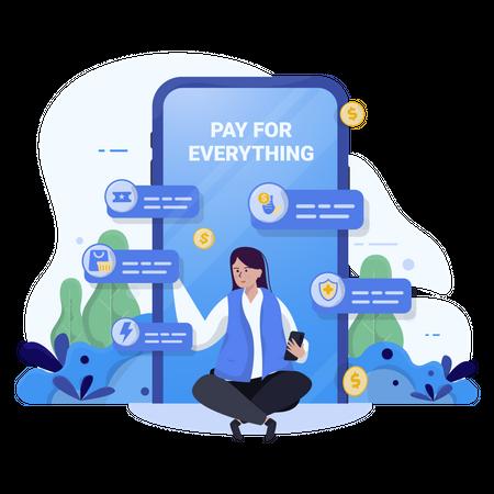 Bill payments Illustration
