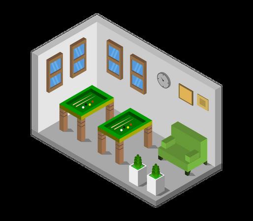 Billiard room Illustration