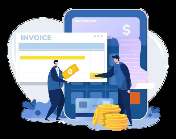 Billing management Illustration
