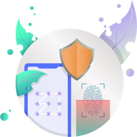 Biometric Security Illustration