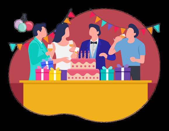 Birthday Celebration party Illustration