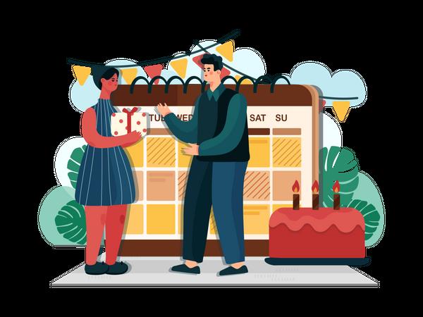 Birthday Event Illustration
