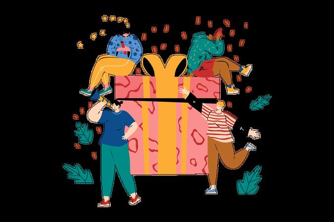 Birthday Gift Illustration
