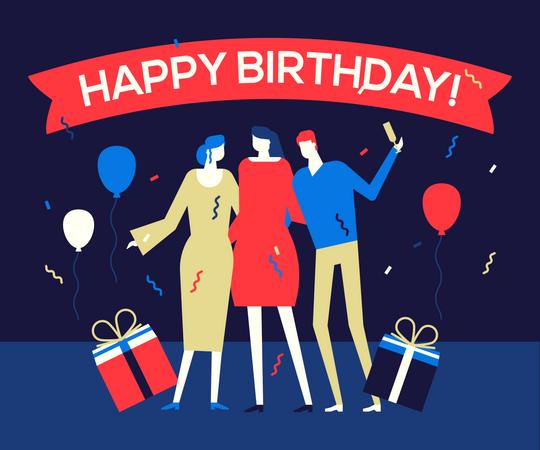 Birthday Party Illustration