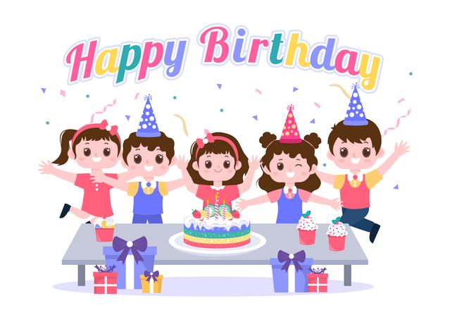 Birthday party celebration Illustration