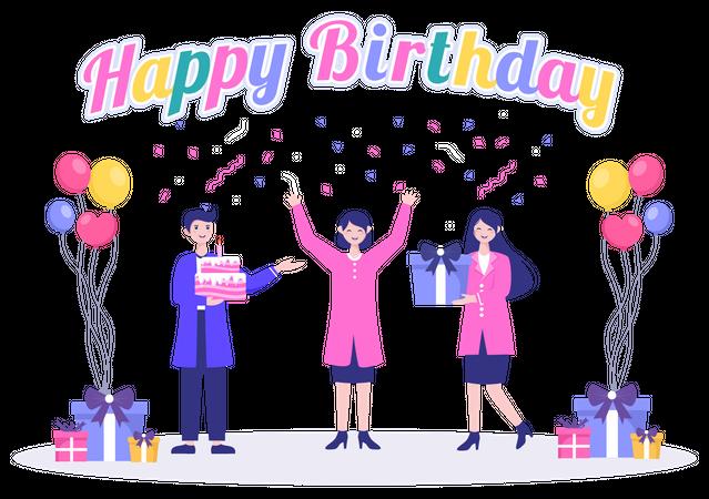 Birthday Surprise Illustration
