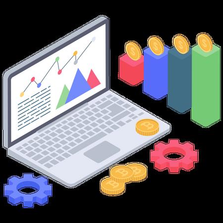 Bitcoin analysis and management Illustration