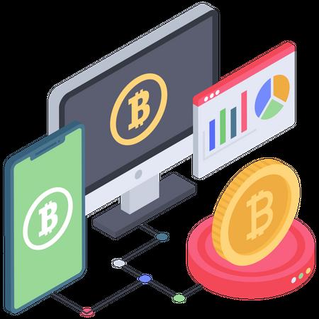 Bitcoin Analytics Illustration