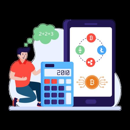 Bitcoin Calculator Illustration