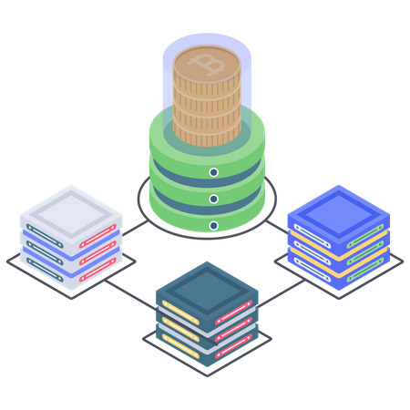 Bitcoin database connection Illustration