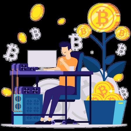Bitcoin Growth Illustration