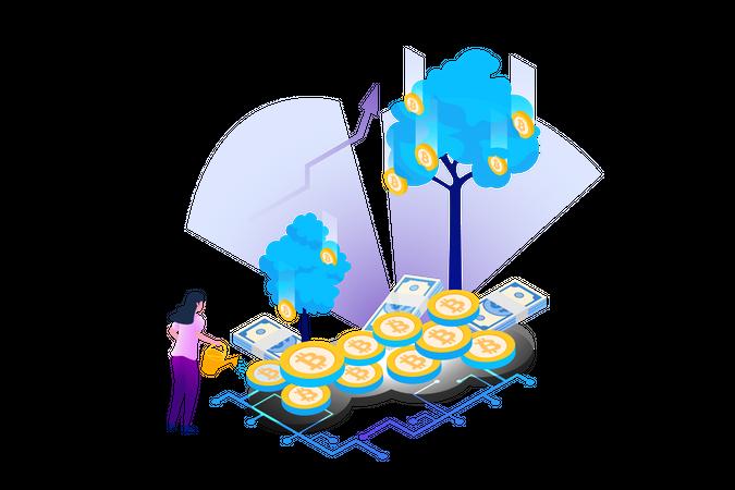 Bitcoin Investment Illustration
