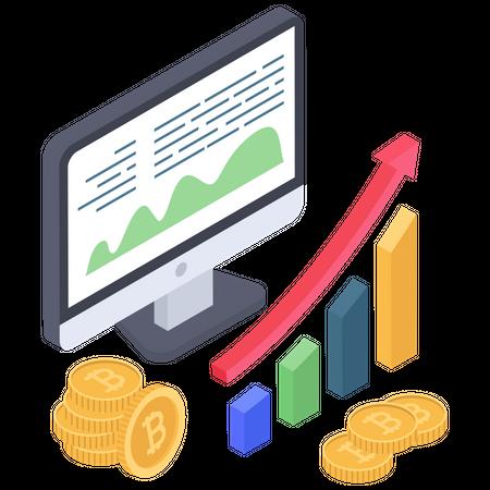 Bitcoin marketing analysis Illustration