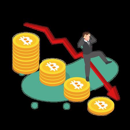 Bitcoin Price Fall Illustration