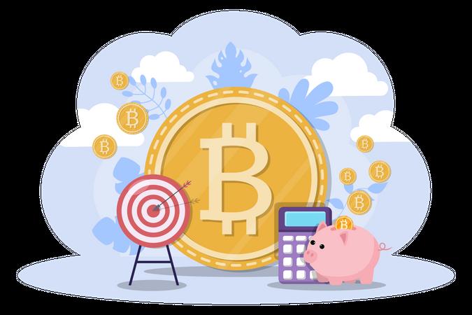 Bitcoin Savings Illustration