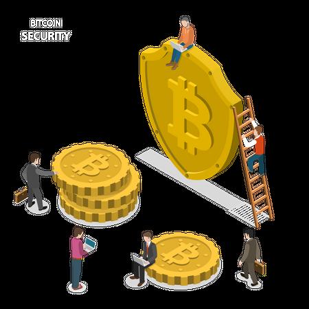 Bitcoin security Illustration