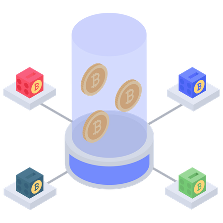 Bitcoin selling server Illustration